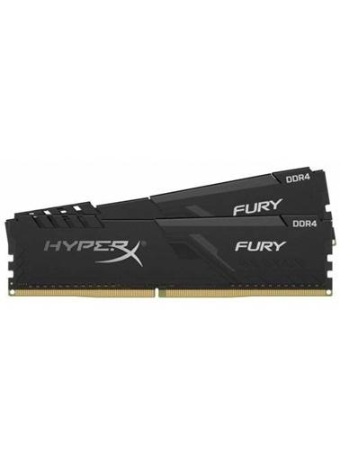 Kingston Kingston HyperX FURY Black 64GB 3200MHz DDR4 CL16 DIMM (2x32) Gaming Bellek (HX432C16FB3K264) Renkli